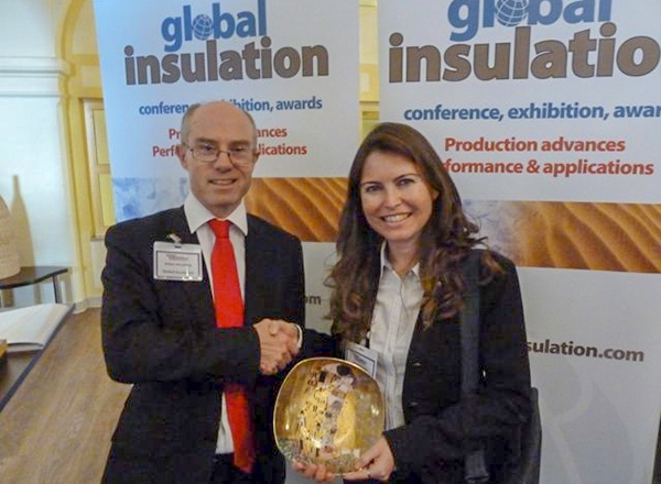 Global Insulation Conference and 1st prize for the best presentation