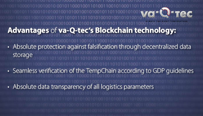 The next level of data security: va-Q-tec's use of Blockchain technology