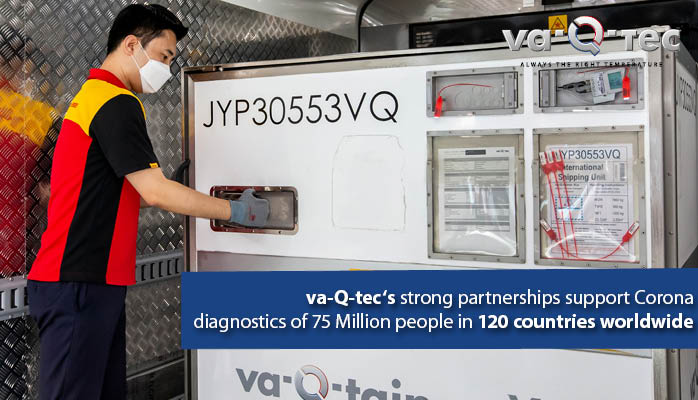 Impressive interim result: More than 310t test kits internationally shipped in va-Q-tec's transport solutions