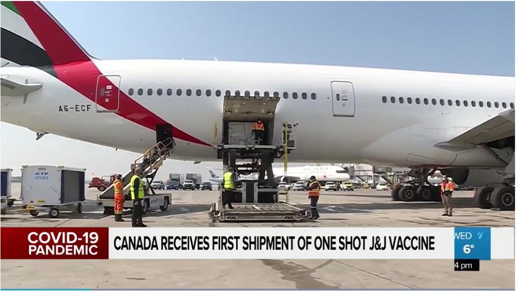 Johnson & Johnson arrives using va-Q-tainers