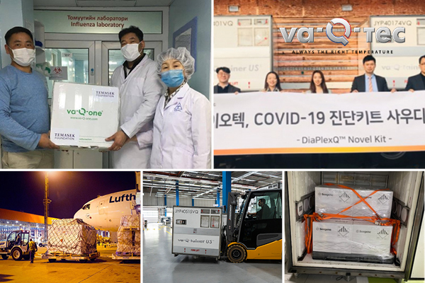 va-Q-tec transportation solutions ensure temperature controlled supply chains for the healthcare industry in the fight against CoViD-19