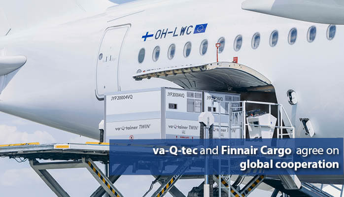 va-Q-tec and Finnair Cargo agree on global cooperation