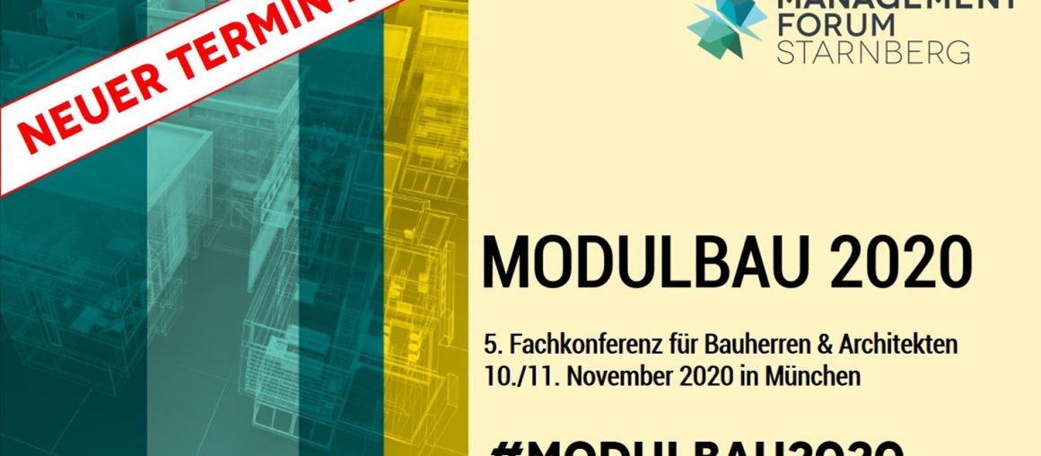 Modulbau 2020 – 5th conference on modular construction for building owners, architects, investors and project developers