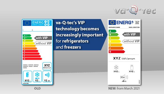 VIP-Technologie wird ab dem 1. März 2021 durch neue EU-Energieeffizienzlabel für Kühl- und Gefriergeräte immer wichtiger