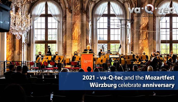 2021 – va-Q-tec und das Mozartfest Würzburg feiern Jubiläum