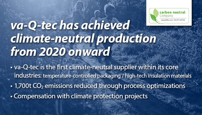va-Q-tec has achieved climate-neutral production from 2020 onward