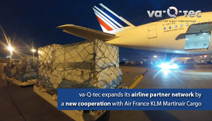 va-Q-tec and Air France KLM Martinair Cargo agree on long-term cooperation
