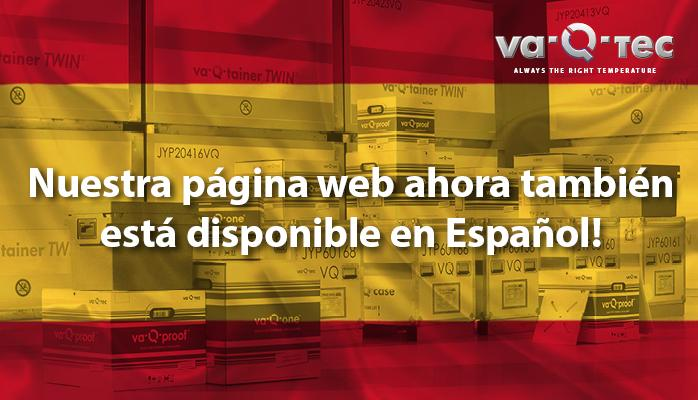 va-Q-tec website is now available in Spanish