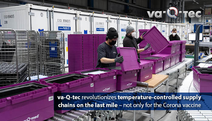 va-Q-tec revolutionizes temperature-controlled supply chains on the last mile - not only for Corona vaccine
