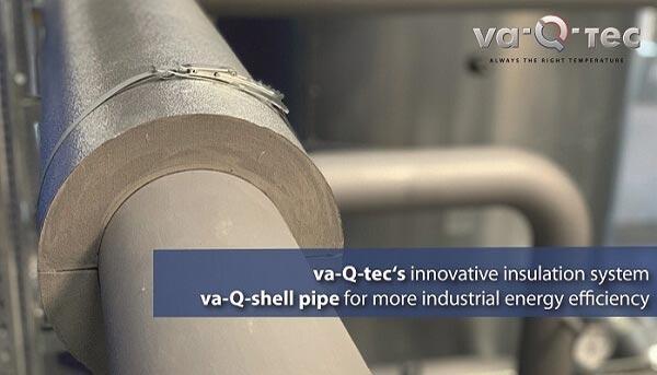 va-Q-tec stellt innovatives Rohrleitungs-Dämmsystem va-Q-shell pipe vor